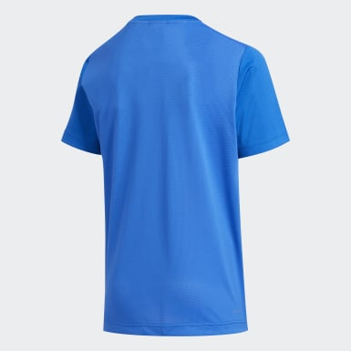Camiseta 3-Stripes Azul Meninos Training