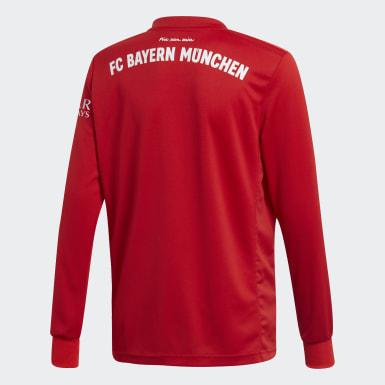 Maillot FC Bayern Domicile Rouge Garçons Football
