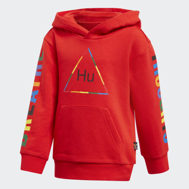 Children Originals Red Pharrell Williams Hooded Track Suit