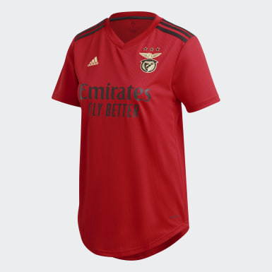 Dam Fotboll Röd Benfica Home Jersey