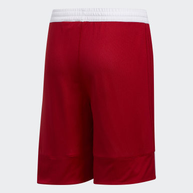 Kids 4-8 Years Basketball Red 3G Speed Reversible Shorts