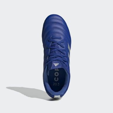 Bota de fútbol Copa 20.3 césped natural seco Azul Niño Fútbol