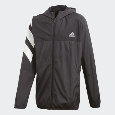 Jungen Athletics XFG Must Haves Windbreaker Schwarz