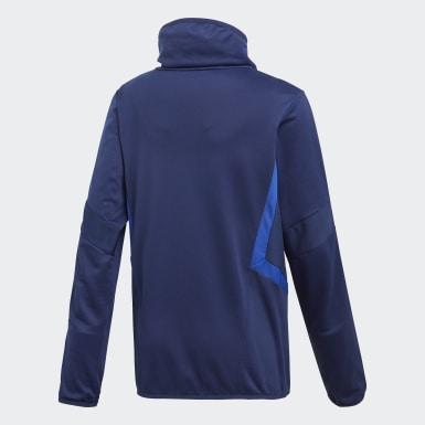 Kinderen Training Blauw Tiro 19 Warm Sweatshirt