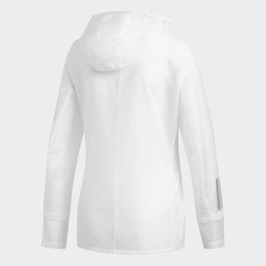 Chaqueta con capucha Response Blanco Mujer Running