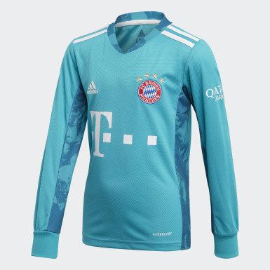 Børn Fodbold Grøn FC Bayern målmandstrøje