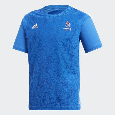 Camiseta Federación Francesa de Balonmano Réplica Azul Niño Balonmano