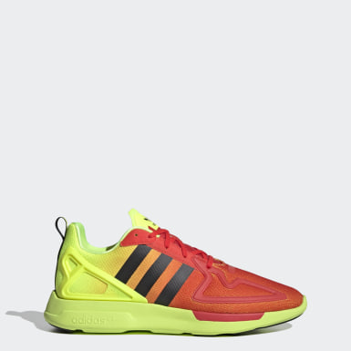 Men Originals Yellow ZX 2K Flux Shoes