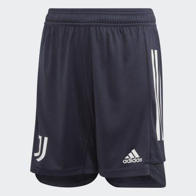 Kinder Fußball Juventus Turin Trainingsshorts Blau