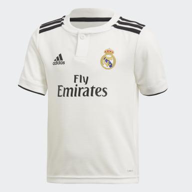 Børn Fodbold Hvid Real Madrid Home minisæt