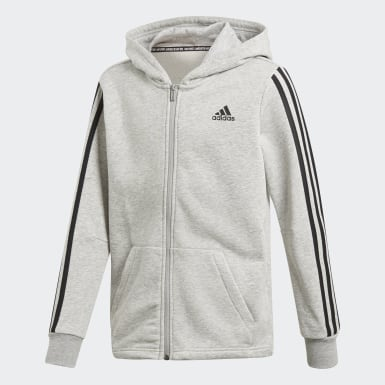 Youth Training Grey Must Haves 3-Stripes Jacket