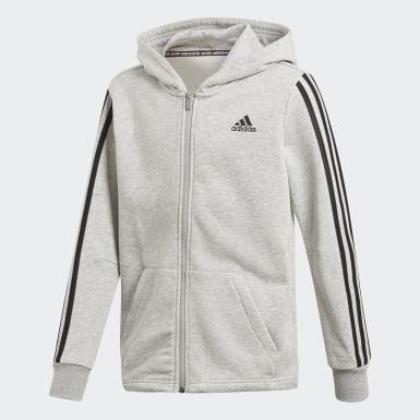 Boys Træning Grå Must Haves 3-Stripes jakke