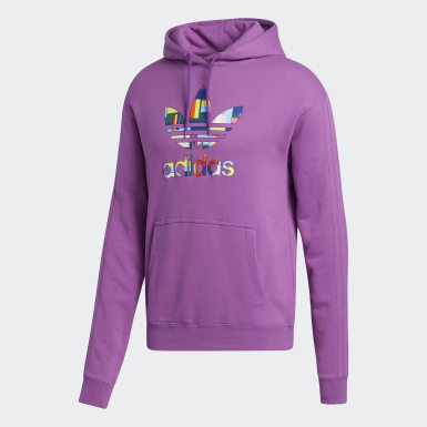 Sweat-shirt à capuche Pride Flag Fill (Unisexe) Violet Originals