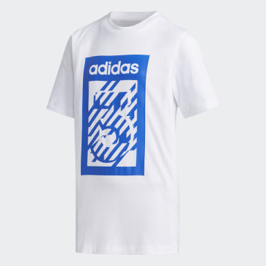 Boys Sport Inspired White Box Tee
