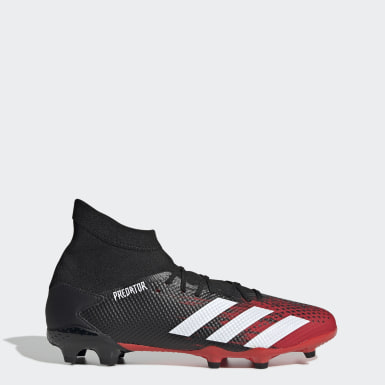 Men Football Black Predator 20.3 Firm Ground Boots