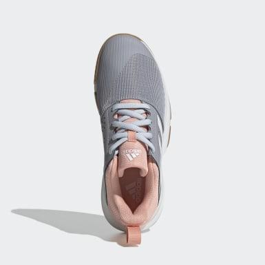Frauen Korbball Essence Indoor Schuh Grau