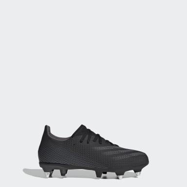 Jongens Voetbal Zwart X Ghosted.3 Soft Ground Voetbalschoenen