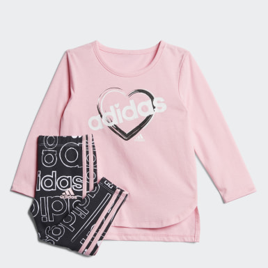 Infant & Toddler Training Pink Tee and Printed Tights Set