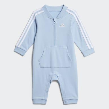 ADI TRACKSUIT COVERALL bleu Bambins & Bebes Entraînement