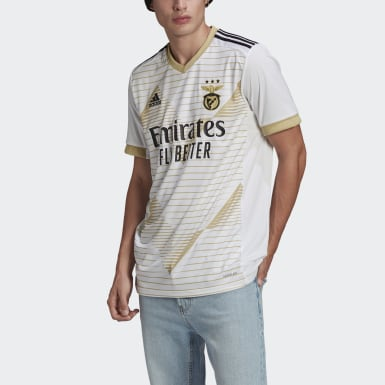Men Football White Benfica 20/21 Third Jersey