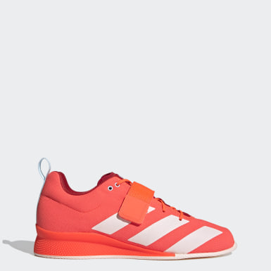 Men's Weightlifting Orange Adipower Weightlifting 2 Shoes
