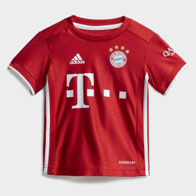 Toddlers 1-4 Years Football Red FC Bayern Home Baby Kit