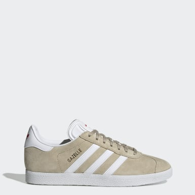 Dames Originals beige Gazelle Schoenen
