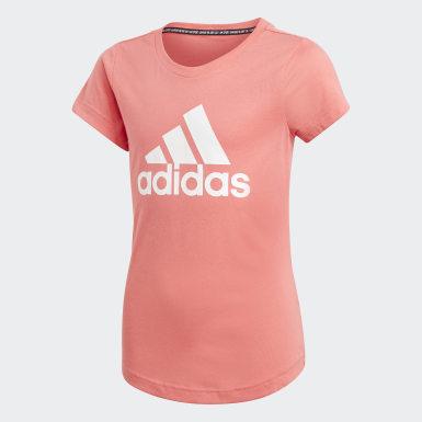 Dievčatá Tréning červená Tričko Must Haves Badge of Sport