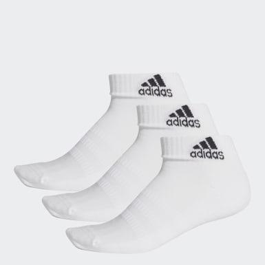 Handball Hvid Cushioned ankelsokker, 3 par