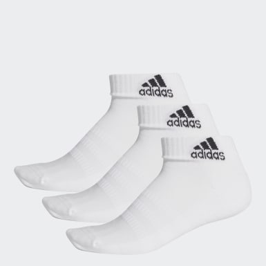 Handball White Cushioned Ankle Socks 3 Pairs