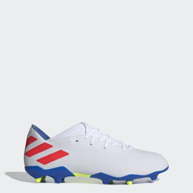 Zapatos de Fútbol Nemeziz Messi 19.3 Terreno Firme Blanco Hombre Fútbol
