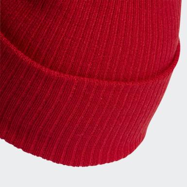 Bonnet Adicolor Ribbed Cuff Rouge Originals
