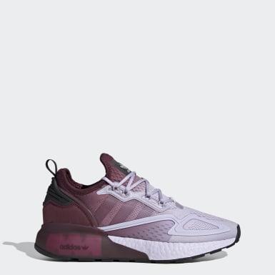 Women Originals Purple ZX 2K Boost Shoes