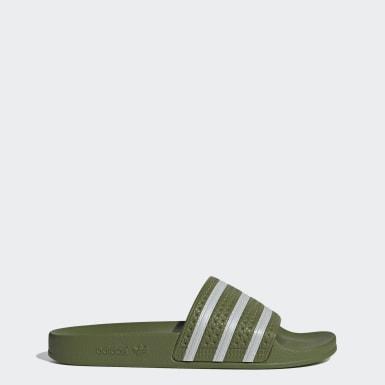Men Originals Green Adilette Slides
