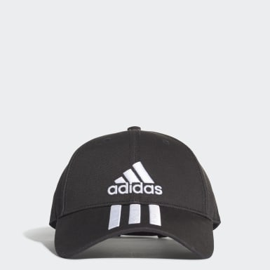 Gorra Six-Panel Classic 3 bandas Negro Training