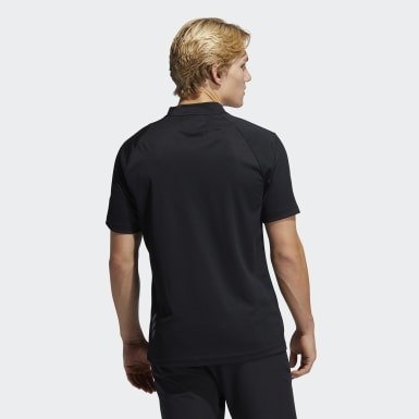 Men's Golf Black Adicross Draw Fade Mock Tee