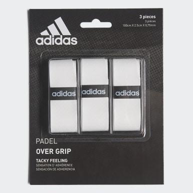 Padel-Tennis Padel Griffband Weiß