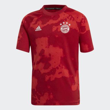 Boys Fodbold Rød FC Bayern opvarmningstrøje