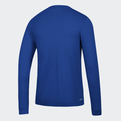 Men's Sport Inspired Blue Badge of Sport Tee
