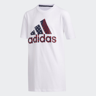 Youth Training White USA Tee