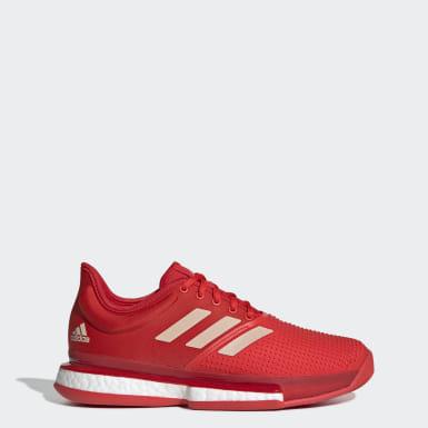 Zapatillas SoleCourt Boost Rojo Mujer Tenis