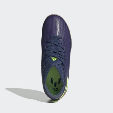 Boys Fodbold Blå Nemeziz Messi 19.3 Indoor støvler