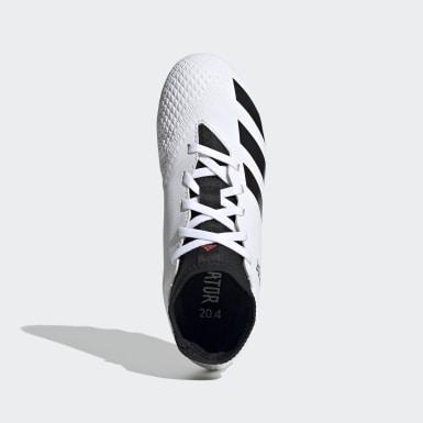 Children Soccer White Predator 20.4 S Flexible Ground Cleats