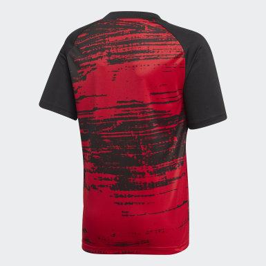 Camisola de Aquecimento do Manchester United Vermelho Rapazes Futebol