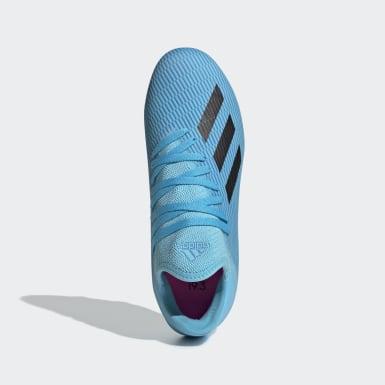 Chaussure X 19.3 Terrain souple Turquoise Enfants Football