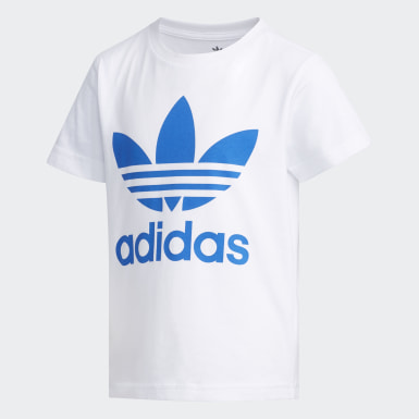 Çocuklar Originals White Trefoil Tişört