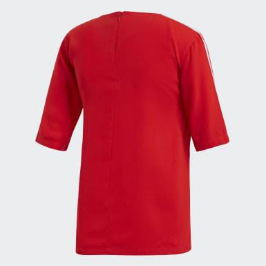 Women Originals Red 3-Stripes Tee
