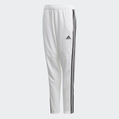Youth Soccer White Tiro 19 Training Pants
