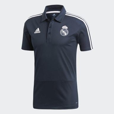 Heren Voetbal Grijs Real Madrid Poloshirt