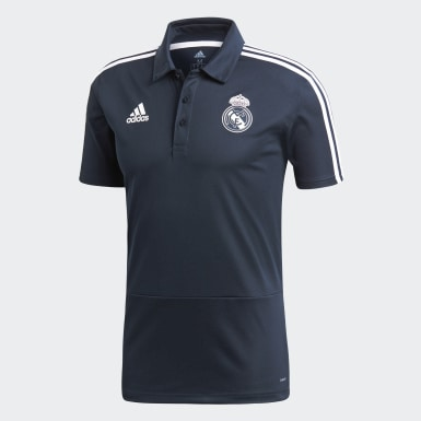 Mænd Fodbold Grå Real Madrid polotrøje